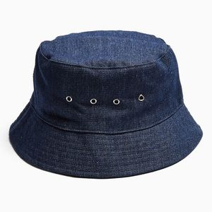 Denim Eyelet Bucket Hat